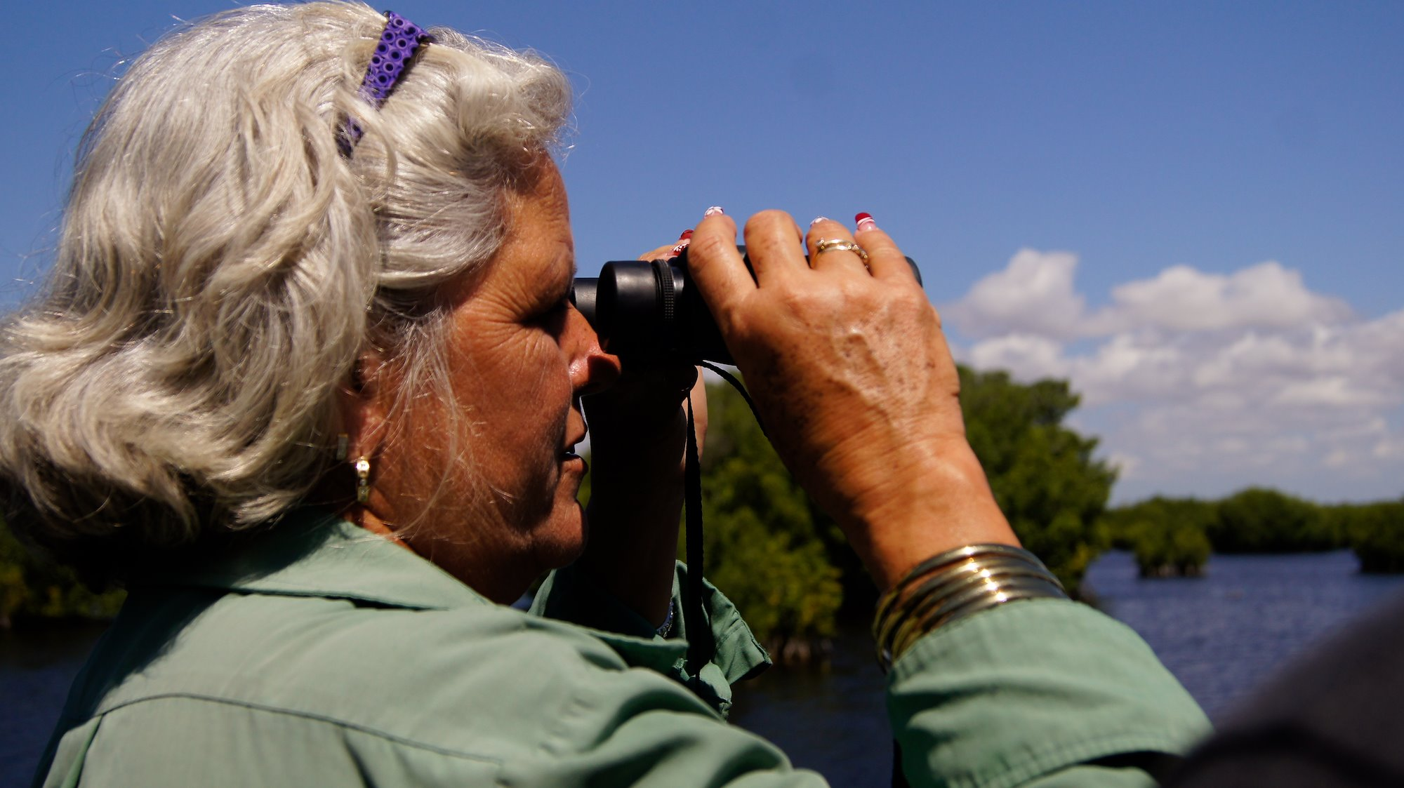 María Teresa es administradora del área protegida del Golfo de Batabanó / Foto: Proyecto Manglar Vivo, PNUD Cuba