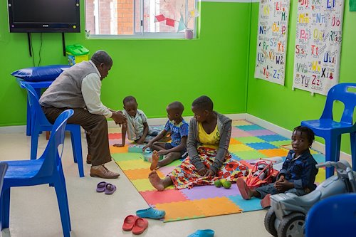 Our playroom team loves spending time with the kids.