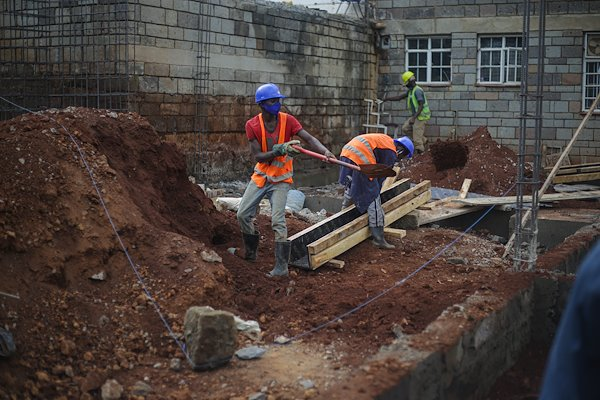 Construction is ongoing at CURE Kenya.