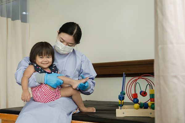 Physical therapy time is also playtime for our patients.