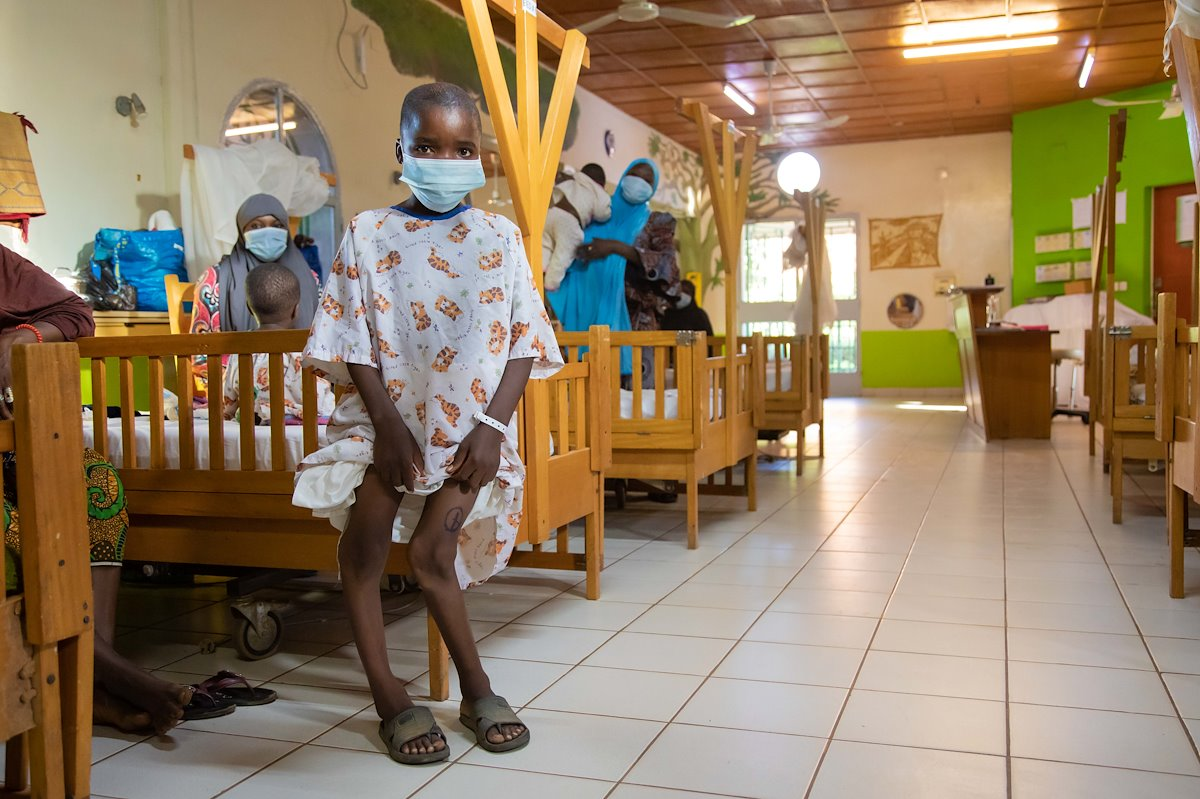 Alhassane was referred to CURE Niger from another hospital. We are excited begin straightening his legs!