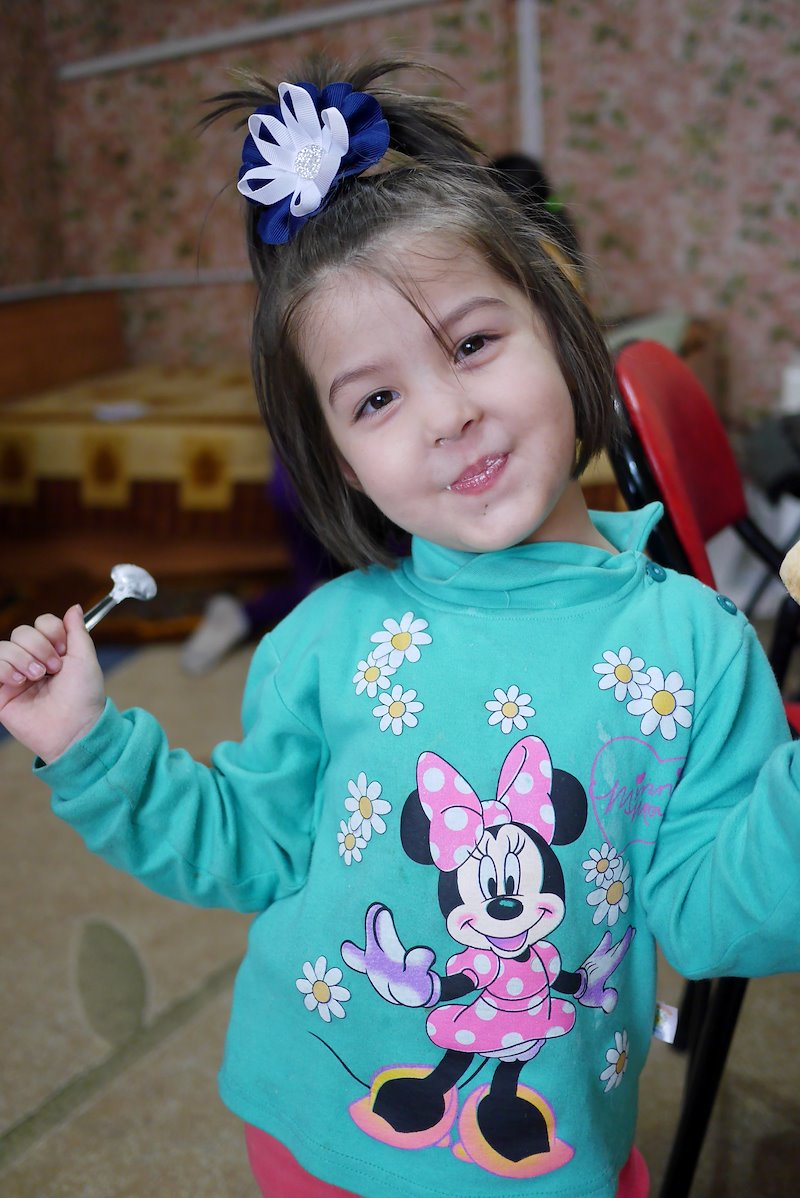 Young girl who attends a house church in Central Asia