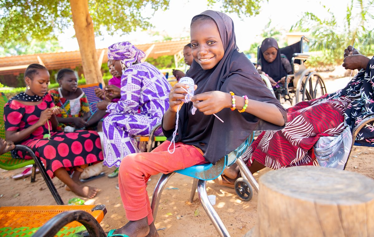 Farida is happy to learn a new skill: to weave! She has big plans for the future ahead!