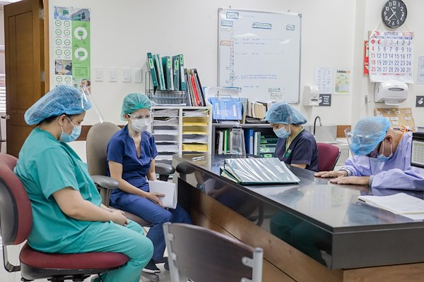 Nurses draw strength to carry out their daily tasks through prayer.
